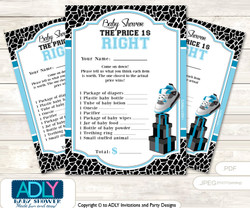 Printable Sneakers Jumpman Price is Right Game Card for Baby Jumpman Shower, Black, MVP