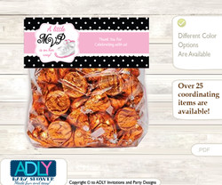 Printable Girl Jumpman Treat or Goodie bag Toppers for Baby Girl Shower or Birthday DIY Pink Black, Sneakers