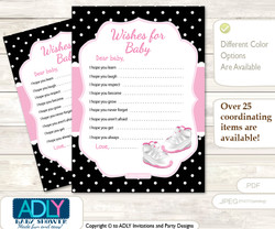Girl Jumpman Wishes for a Baby, Well Wishes for a Little Jumpman Printable Card, Sneakers, Pink Black