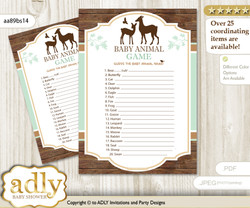 Printable Deer Fawn Baby Animal Game Guess Names Of Baby Animals