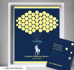 Boy Polo Guest Book Printable Alternative and Boy Polo Wall Art for Baby Polo  Shower DIY navy yellow sport shower - ONLY digital file