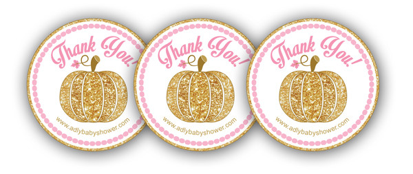 FREE Pumpkin Thank You Tag for a Girl Baby Shower