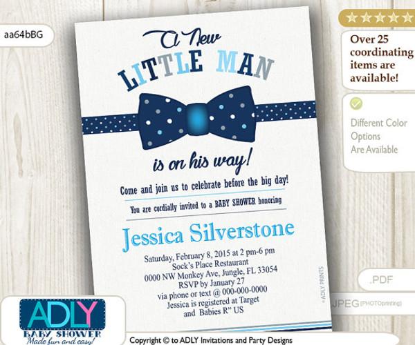 Navy blue grey bow tie little man baby shower invitation dark blue navy blue grey bow tie little man baby shower invitation dark blue bow tie polka filmwisefo