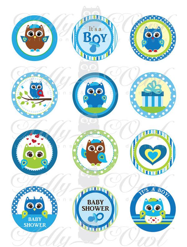 blue owl baby shower cupcake toppers or favor tags printables diy rh adlybabyshower com Laser Cupcake Ideas Laser Cakes