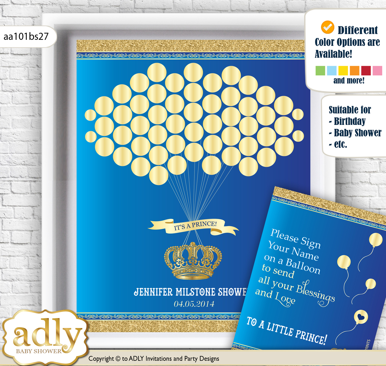 Royal Prince Guest Book Alternative for a Baby Shower, Creative ...