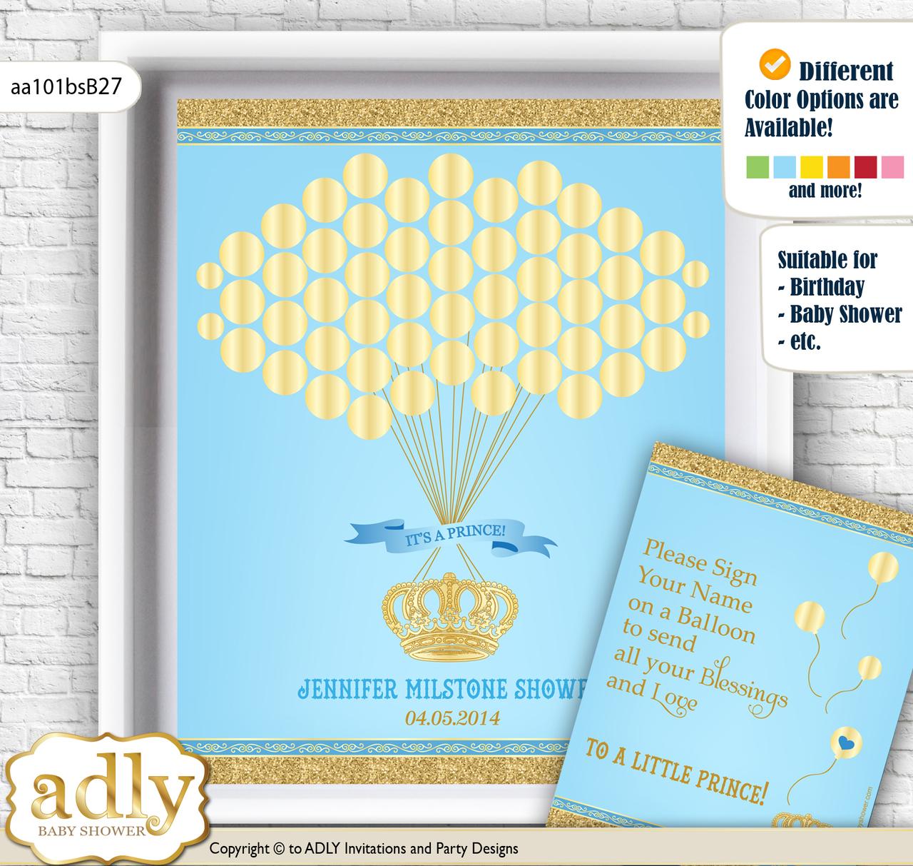 Royal Guest Book Alternative for a Baby Shower, Creative Nursery ...