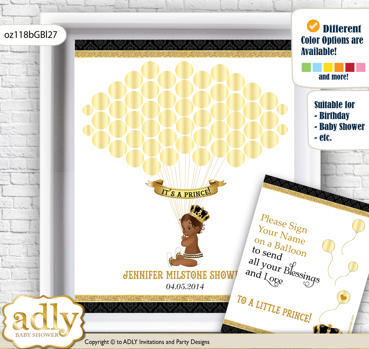 African Prince Guest Book Alternative for a Baby Shower, Creative ...