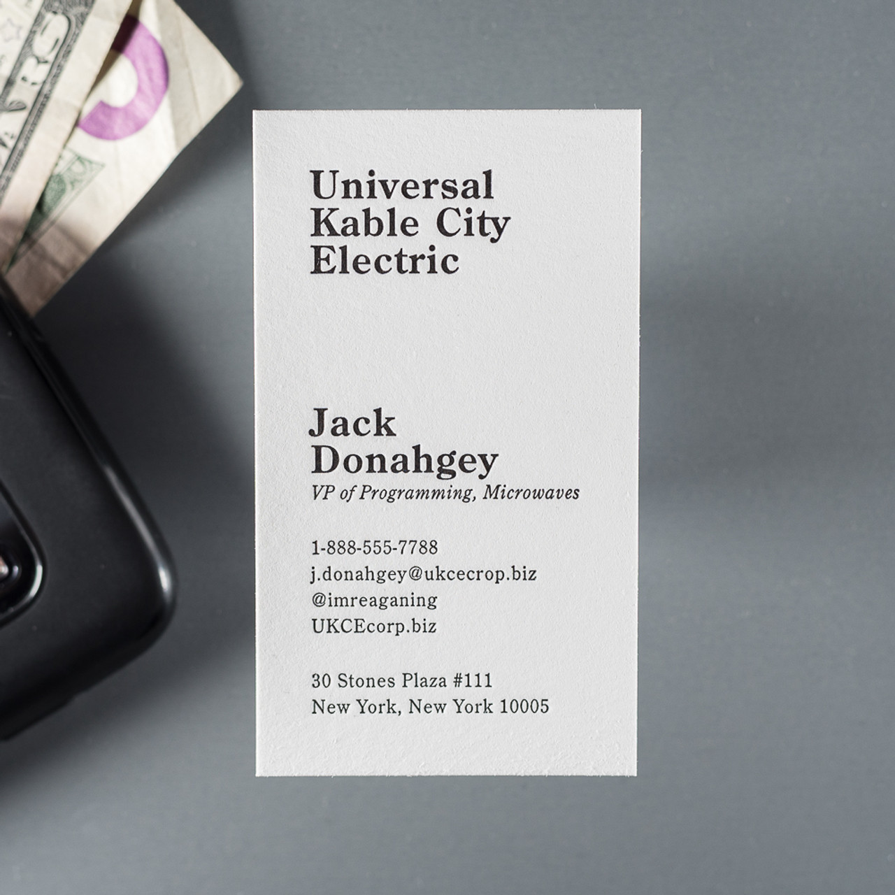 The Business Card - THE MANDATE PRESS