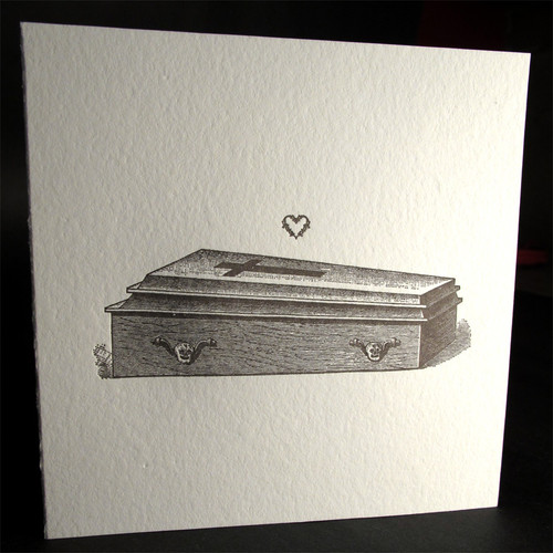I Love you to Death - Letterpress Card