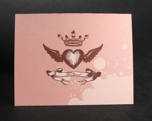Love Eternal - Letterpress Love Card