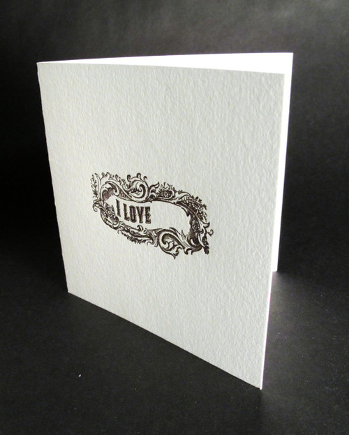 Missing you - Letterpress Love Card