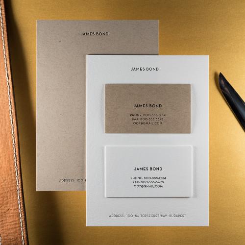 The Secret Agent - Notecard & Calling Card Set
