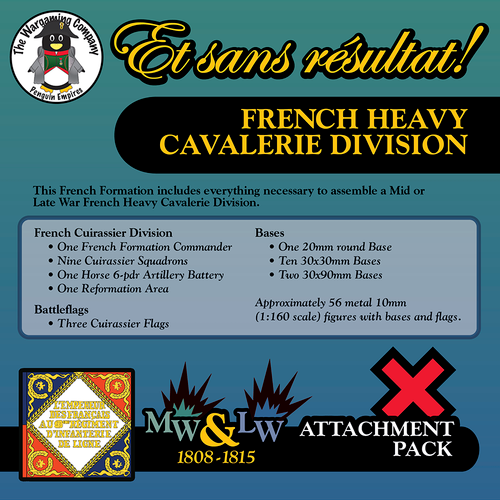 French Heavy Cavalerie Division (Mid-Late War) Attachment Pack