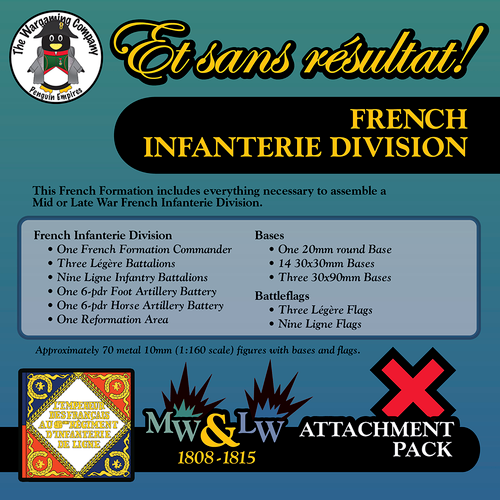 French Infanterie Division (Mid-Late War) Attachment Pack