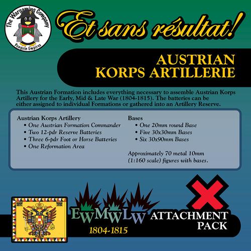 Austrian Korps Artillerie (Early-Mid-Late War) Attachment Pack