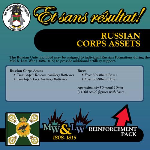 Russian Corps Assets (Mid-Late War) Reinforcement Pack