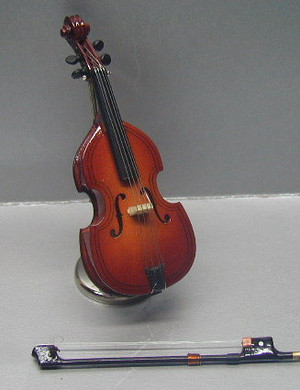 "MUS003 - CELLO With Case & Stand -  4"""" H"