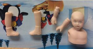 Dollhouse Miniature - Porcelain Doll Kit - Gigi 1 - Booties - 1:12 Scale