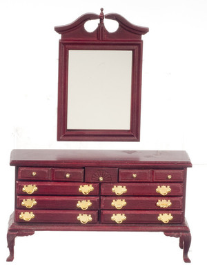 D1140 - DRESSER With MIRROR - MAHOGANY