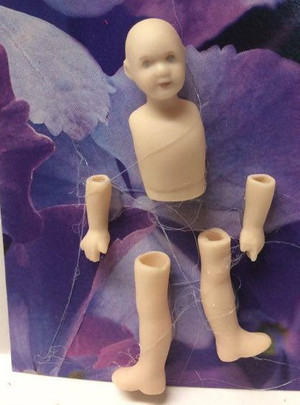 Dollhouse Miniature - Porcelain Doll Kit - Doreen - 1:12 Scale