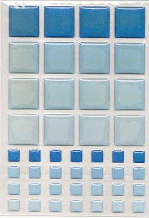 Dollhouse Miniature - 57398 - TILES - BABY BLUE