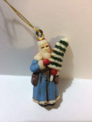 "1504 - 1-3/8"" Antique Old World Santa Christmas Decoration"