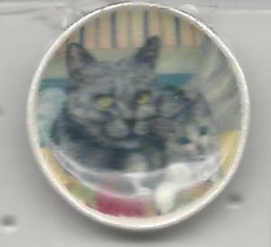 268-3 - GREY KITTENS PLATE