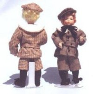 302 - Edwardian Boy in His Fall Suit with Fabric Sewing Pattern