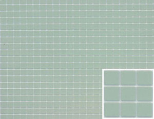 "Dollhouse Miniature - FF60625 - Tile: 1/4"" Sq. - Blue - 12"" x 16"""
