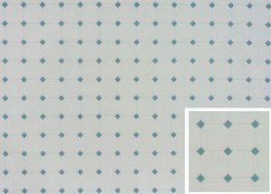 Dollhouse Miniature - Tile: Diamond - Blue - FF60650