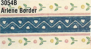 MG3054B - WP Border - Blue with Hearts