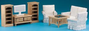 DMMA222 - Oak Living Room Set - 8 pc