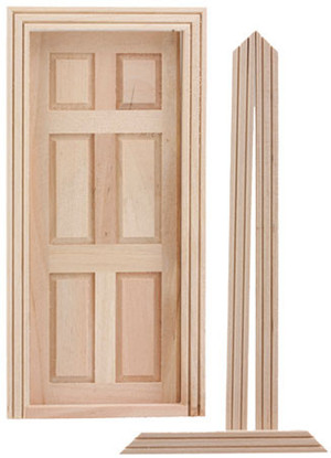 CLA76007 - Standard 6 Panel Door with Trim