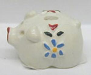 Dollhouse Miniature - IM65955 - Piggy Bank - White