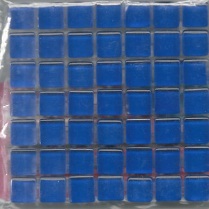 "Dollhouse Miniature - 19701-6 - Glass Tiles - Blue - 3/8"" each"