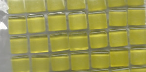 "Dollhouse Miniature - 19701-1  - Glass Tiles - Yellow - 3/8"" each"