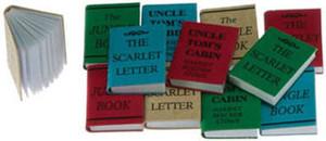 Dollhouse Miniature - IM65773 - Books - Pkg/12 - Small w/Printed Covers - Title A