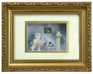 G4822 - Bear Shadow Box - Bear with Hat - Pink