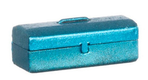 Dollhouse Miniature - G8131 - Metal Tool Box - Blue - Opens