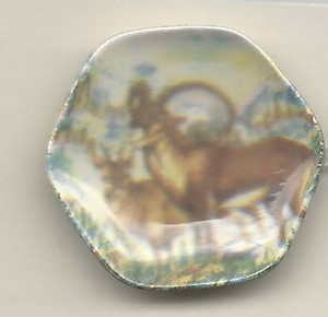 Dollhouse Miniature - 138-3 - ANTELOPE PLATE