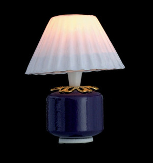Dollhouse Miniature -T8542 - PURPLE BASE TABLE LAMP - 12v