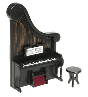 T5989 - HARP ORGAN With STOOL - BLACK