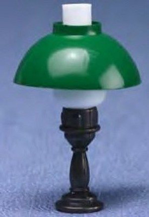 Dollhouse Miniature -   MH855 - Karo Table Lamp - Green Shade