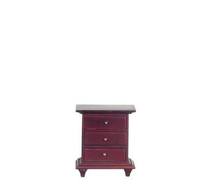 Dollhouse Miniature - T3723 - Night Stand - Mahogany