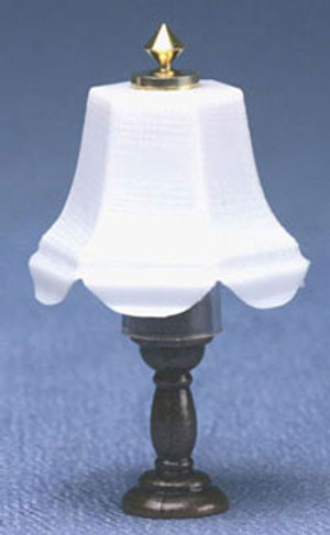 Dollhouse Miniature - MH642 - Table Lamp - Dark Base - 12 volt
