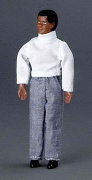 Dollhouse Miniature - AZ00028 - FATHER/AFRICAN AMERICAN