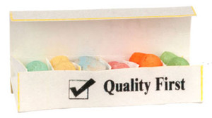 Dollhouse Miniature - FA54251 - Easter Egg Carton Filled with Coloured Eggs
