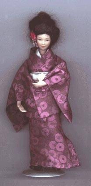 305 - Oriental Lady in a Kimono Sewing Pattern
