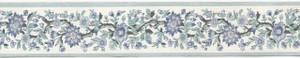 729.0221 - WP Border - White/Blue Floral