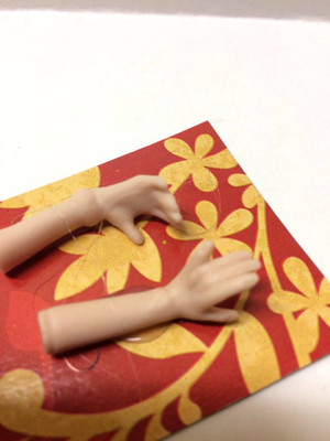 Dollhouse Miniature – Bracelet & Watch Arms - Porcelain Doll Kit Hand & Arms Only